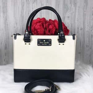 ♥️ Kate spade cream and black Satchel ♥️